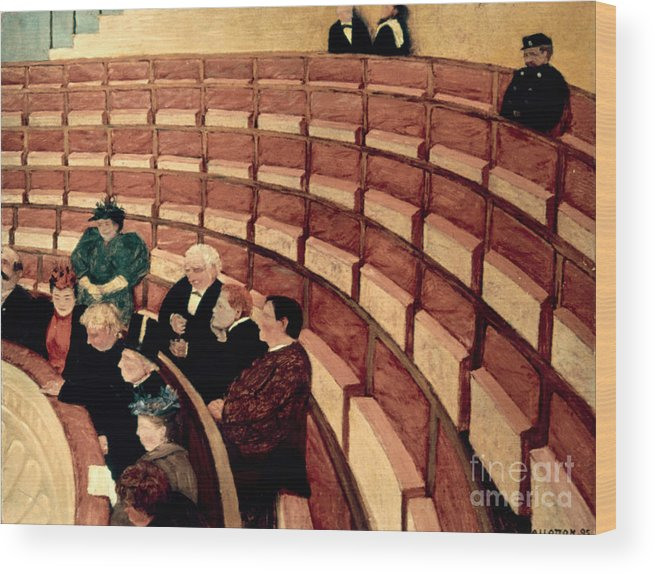 1895 Wood Print featuring the photograph Vallotton: Gallery, 1895 by Granger