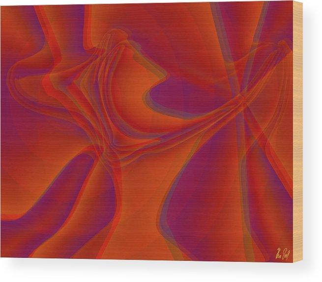 Veil Wood Print featuring the digital art Veil Dance by Helmut Rottler