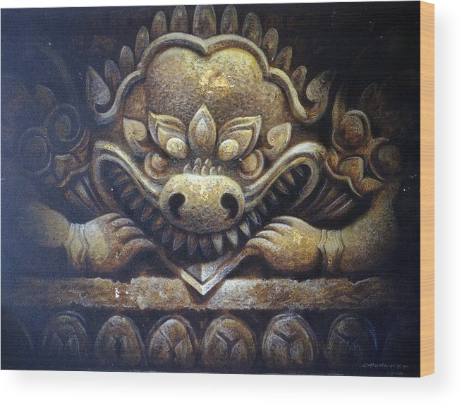 Acrylic Wood Print featuring the painting Virtue by Chonkhet Phanwichien