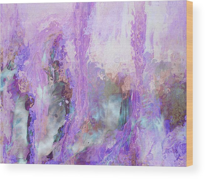 Abstract Art Wood Print featuring the digital art Whisper Softly by Linda Murphy
