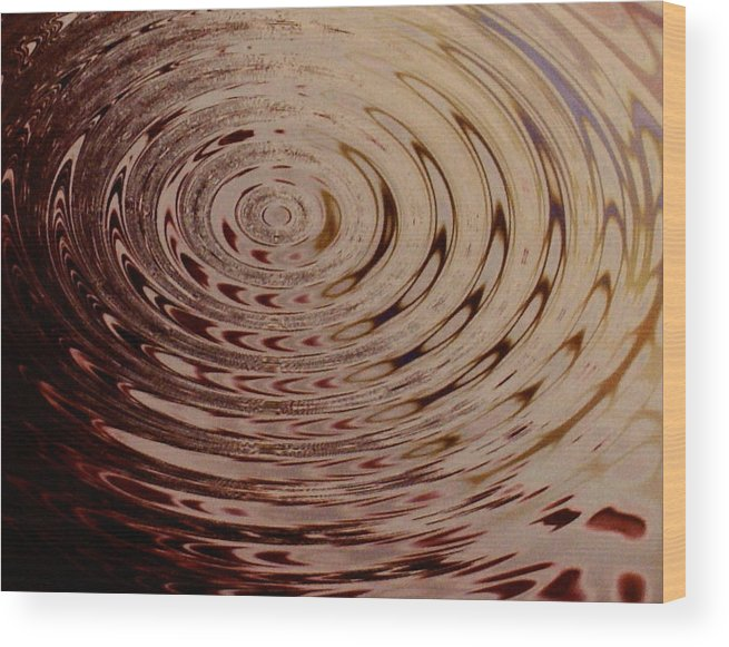 Abstract Wood Print featuring the photograph White Circle by Lorenzo Roberts