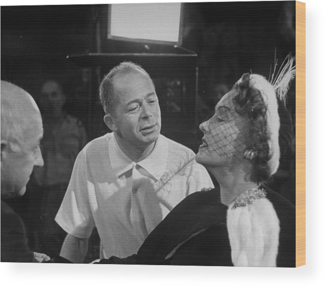 Timeincown Wood Print featuring the photograph Gloria Swansonbilly Wildercecil B by Allan Grant