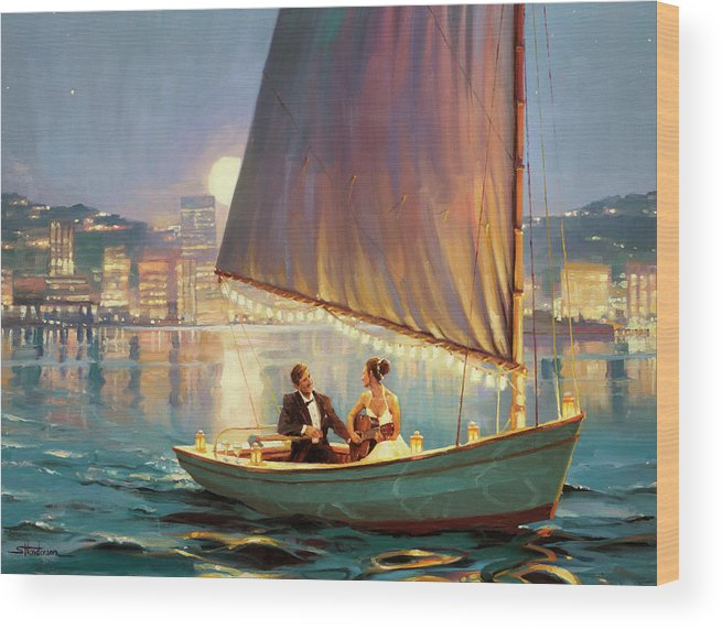 Romance Wood Print featuring the painting Serenade by Steve Henderson