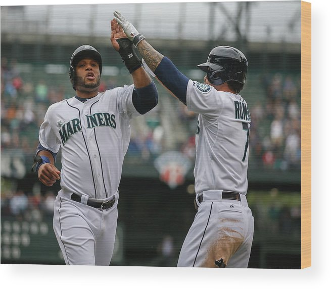 American League Baseball Wood Print featuring the photograph Kyle Seager by Otto Greule Jr
