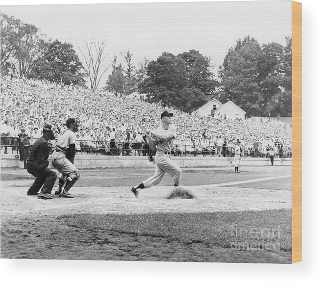 American League Baseball Wood Print featuring the photograph Mickey Mantle by National Baseball Hall Of Fame Library