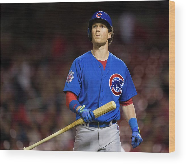 Ninth Inning Wood Print featuring the photograph Chris Coghlan by David Welker
