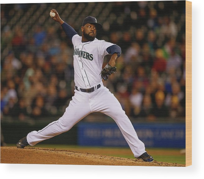 Ninth Inning Wood Print featuring the photograph Fernando Rodney by Otto Greule Jr