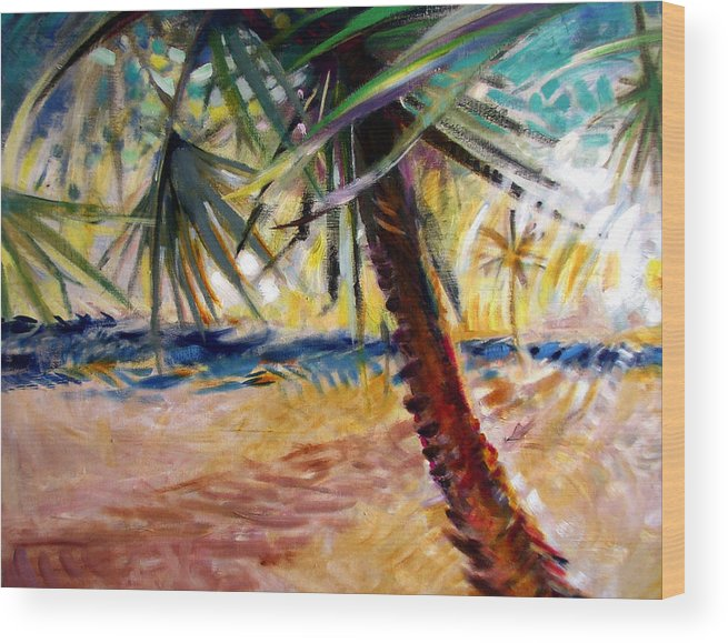 Landscape Wood Print featuring the painting Desert Seashore by Patrick McClintock