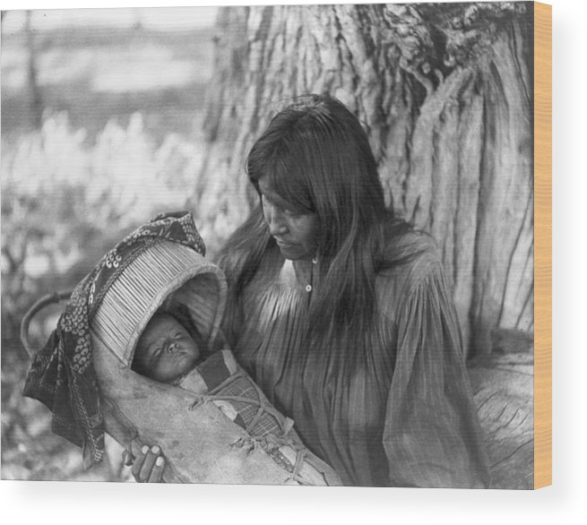 1906 Wood Print featuring the photograph Apache Woman & Child, C1906 1 by Granger
