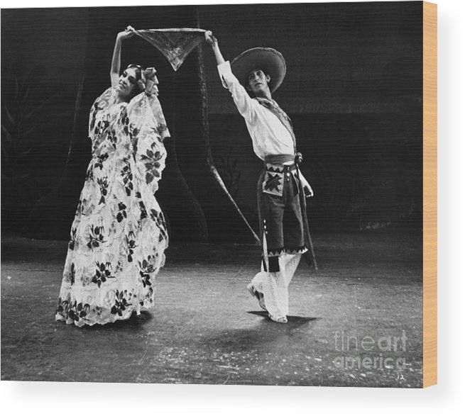 1965 Wood Print featuring the photograph Mexican Folk Dancers by Granger