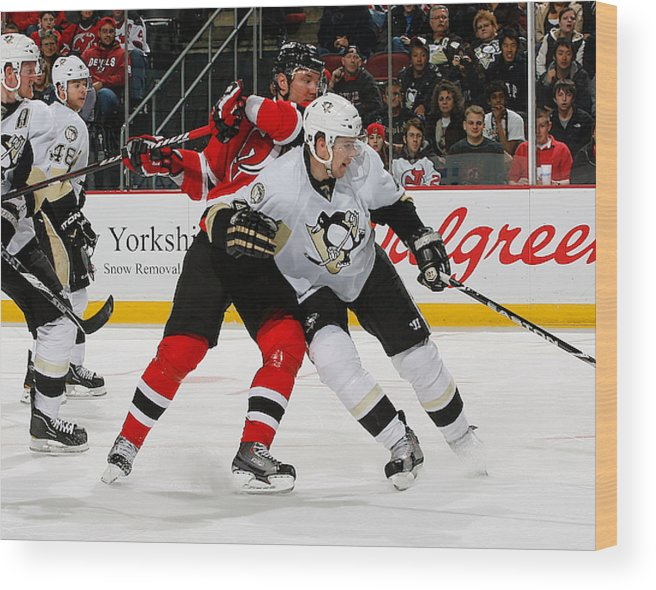 best authentic ce2c8 85a2f Pittsburgh Penguins V New Jersey Devils Wood Print