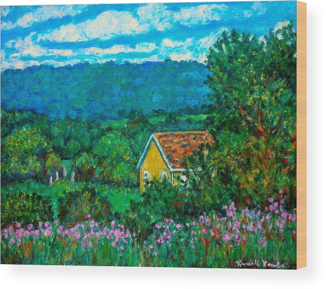 Landscape Wood Print featuring the painting 460 by Kendall Kessler