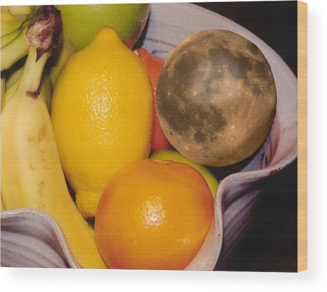 Montages Wood Print featuring the photograph Big Bowl Of Fruit by Greg Wells