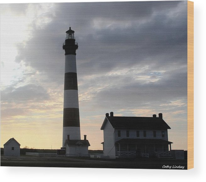 Lighthouse Wood Print featuring the photograph Bodie At Sunrise by Cathy Lindsey