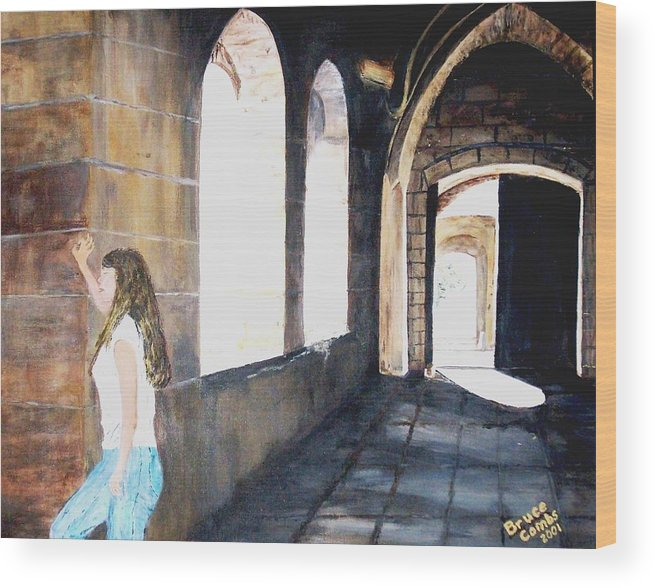 Cloisters Wood Print featuring the painting Cloisters by Bruce Combs - REACH BEYOND