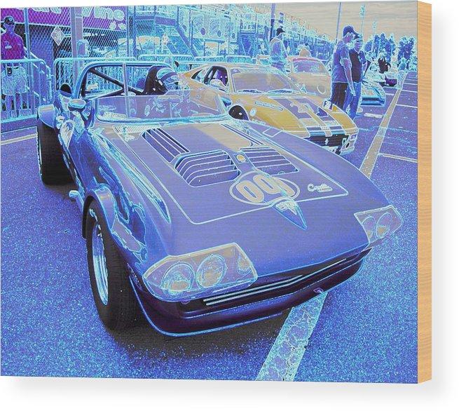 Corvette Wood Print featuring the photograph Grand Sport Corvette by Don Struke