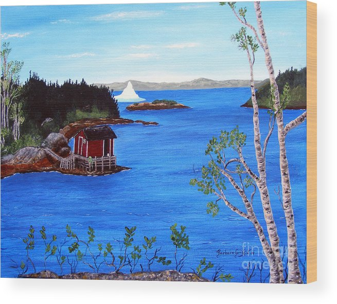 Grounded Iceberg Wood Print featuring the painting Grounded Iceberg by Barbara Griffin