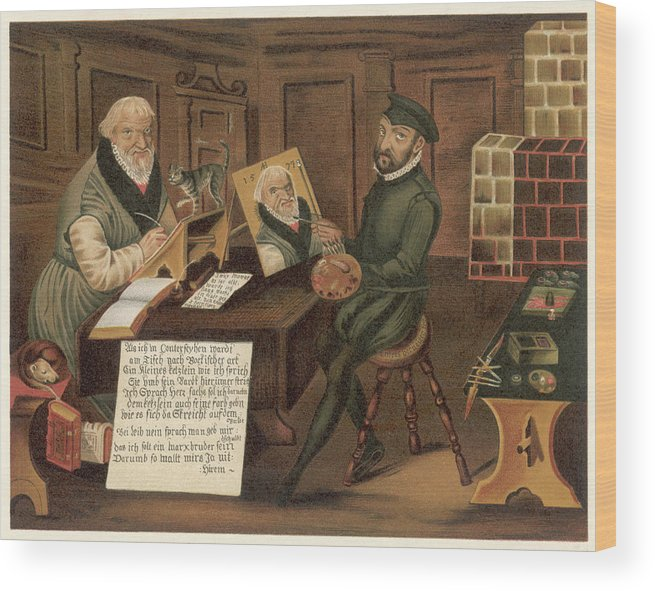Hans Wood Print featuring the drawing Hans Sachs German Writer, Depicted by Mary Evans Picture Library