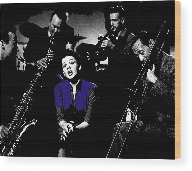 Judy Garland Singing The Man That Got Away A Star Is Born 1954 Wood Print featuring the photograph Judy Garland Singing The Man That Got Away A Star Is Born 1954-2014  by David Lee Guss