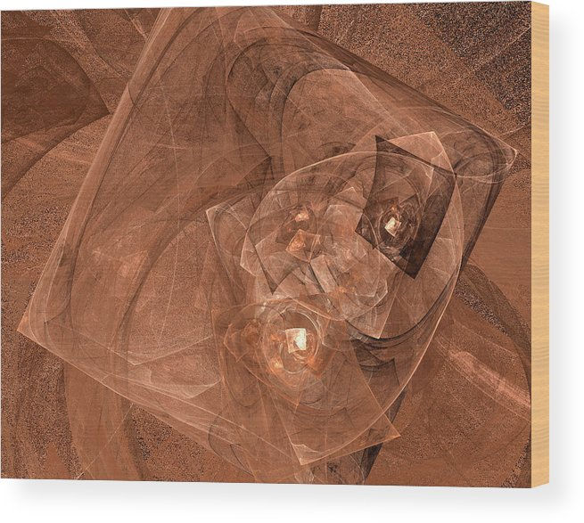 Fractal Wood Print featuring the digital art Live by Christopher Ciecierski