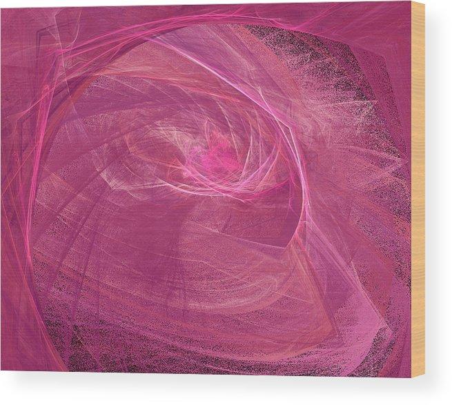 Fractal Wood Print featuring the digital art Morph by Christopher Ciecierski