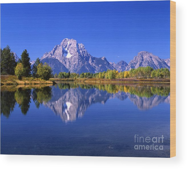 Afternoon Wood Print featuring the photograph Mount Moran Afternoon Light by Mark Sunderland