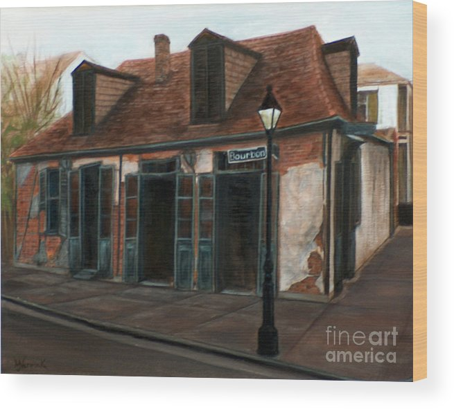 Realism Wood Print featuring the painting New Orleans Familiar Site Before by M J Venrick