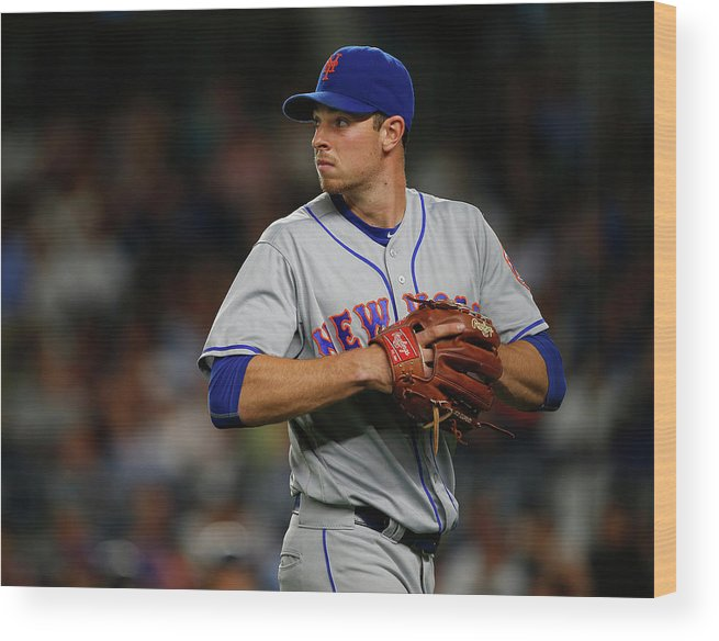 Three Quarter Length Wood Print featuring the photograph New York Mets V New York Yankees by Rich Schultz