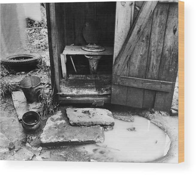 1935 Wood Print featuring the photograph Outdoor Toilet, 1935 by Granger