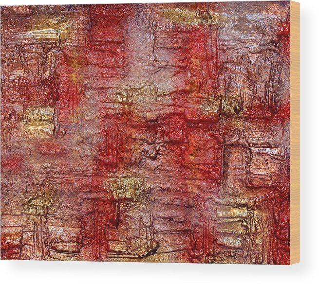 Discount Wood Print featuring the painting Revelation by Julia Apostolova