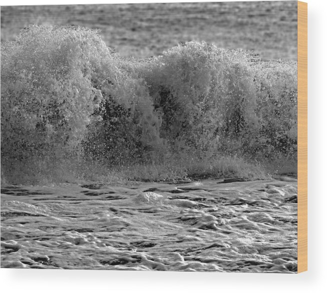 Waves Wood Print featuring the photograph Roar by Paul Pecora