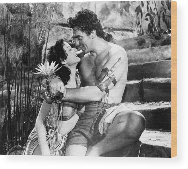 1940s Movies Wood Print featuring the photograph Samson And Delilah, From Left, Hedy by Everett