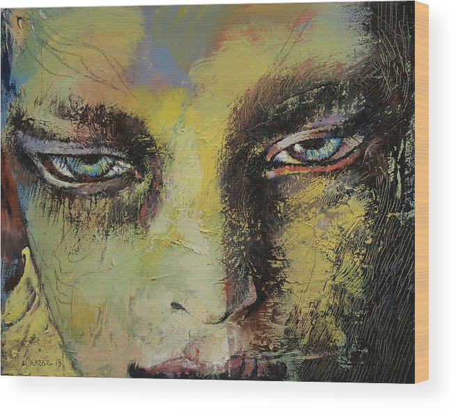 Shiva Wood Print featuring the painting Shiva by Michael Creese