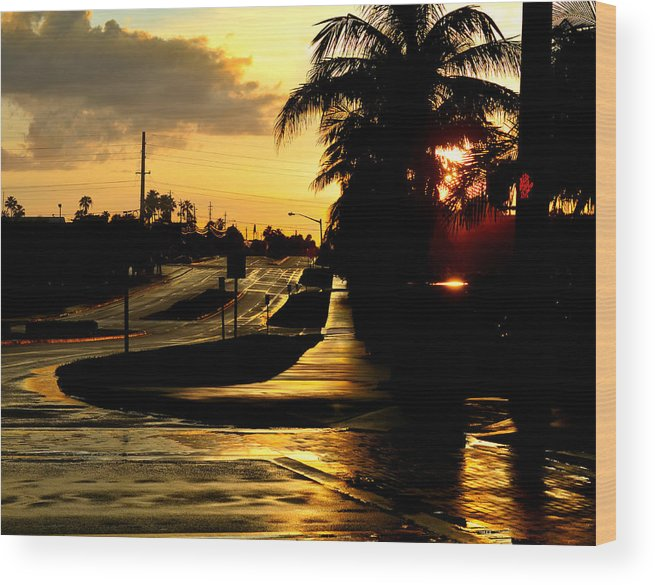 Golden Wood Print featuring the photograph Street Of Dreams by Laura Fasulo