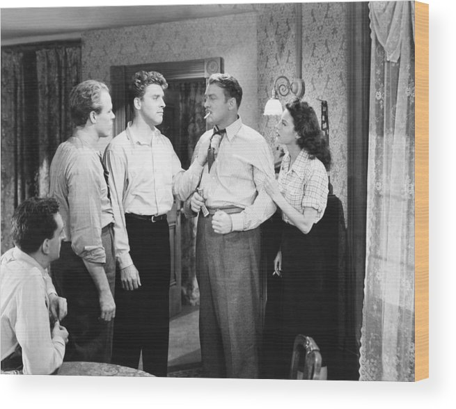 1940s Movies Wood Print featuring the photograph The Killers, From Left, Jeff Corey by Everett
