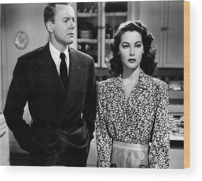 1940s Movies Wood Print featuring the photograph Three Men In White, From Left, Ava by Everett