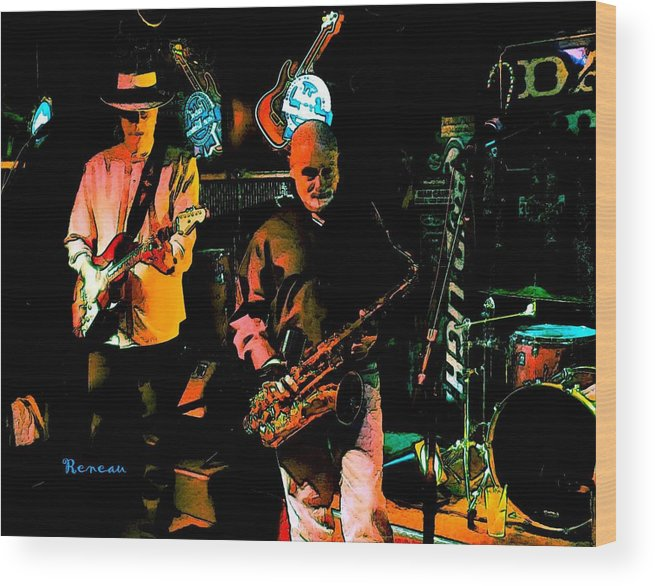 Music Wood Print featuring the photograph Too Tall At Xmas Ball by Sadie Reneau