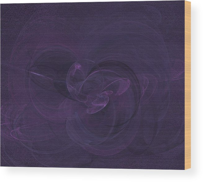 Fractal Wood Print featuring the digital art Tranquility by Christopher Ciecierski