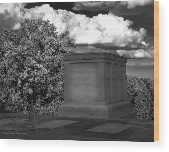 Tomb Wood Print featuring the photograph Unknown by Ross Henton