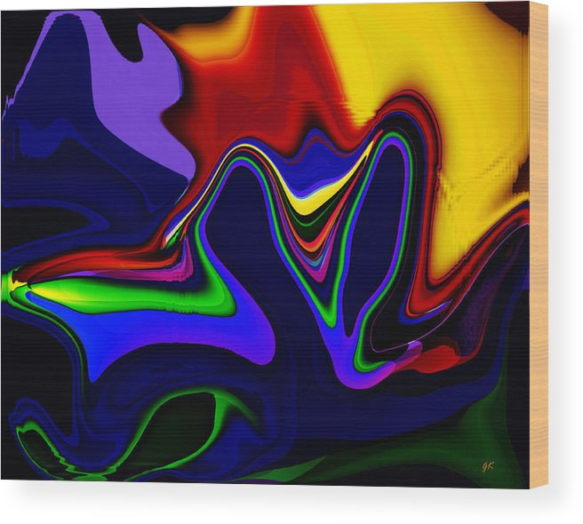Pop Art Wood Print featuring the digital art Vivacity - Abstract by Gerlinde Keating - Galleria GK Keating Associates Inc