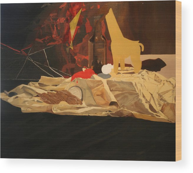 Eating Disorders Wood Print featuring the painting A Still Life by Ruth Poor