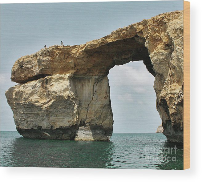 Stone Wood Print featuring the photograph Azure Window by Denise Wilkins