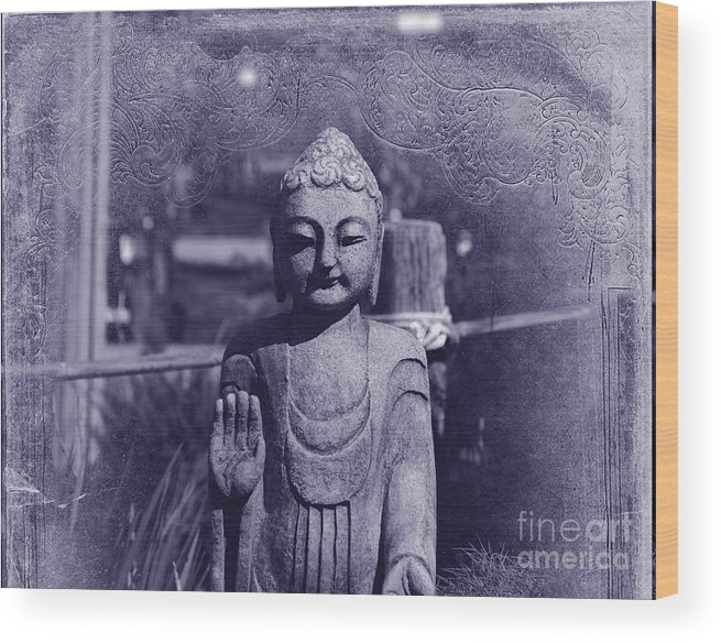 Buddha Wood Print featuring the photograph Buddhas Words by Susanne Van Hulst