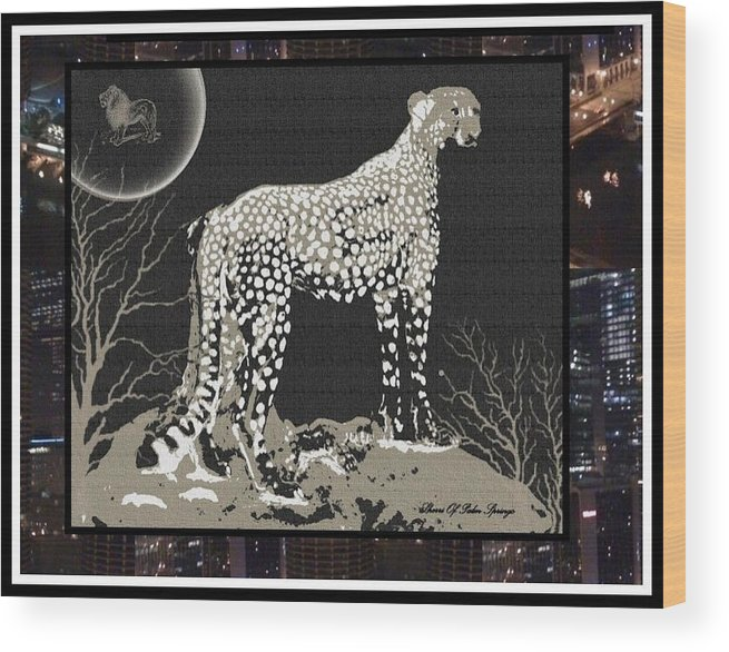 Wild Wood Print featuring the photograph Cheetah by Sherri's - Of Palm Springs
