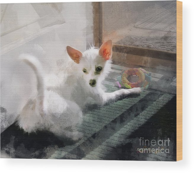 Maggie May Wood Print featuring the digital art Cute Little Maggie May by Rhonda Strickland