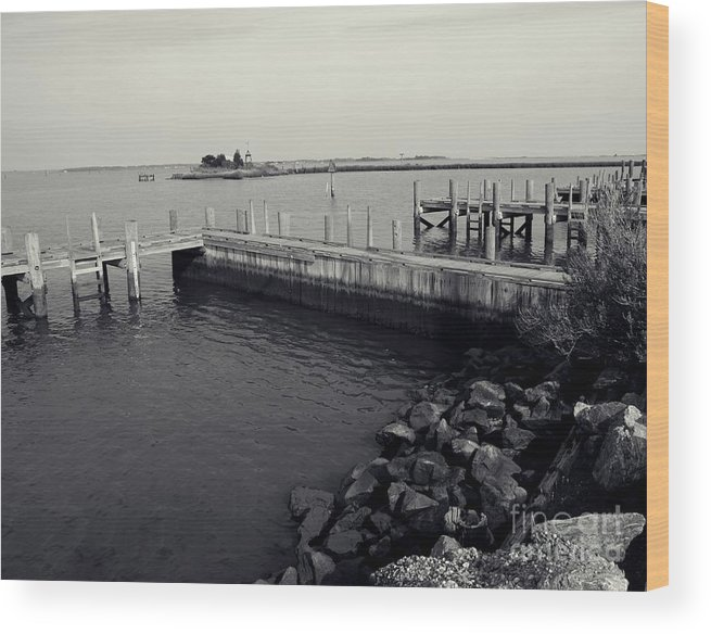 Dock Wood Print featuring the photograph Down By The Bay by Scott Allison