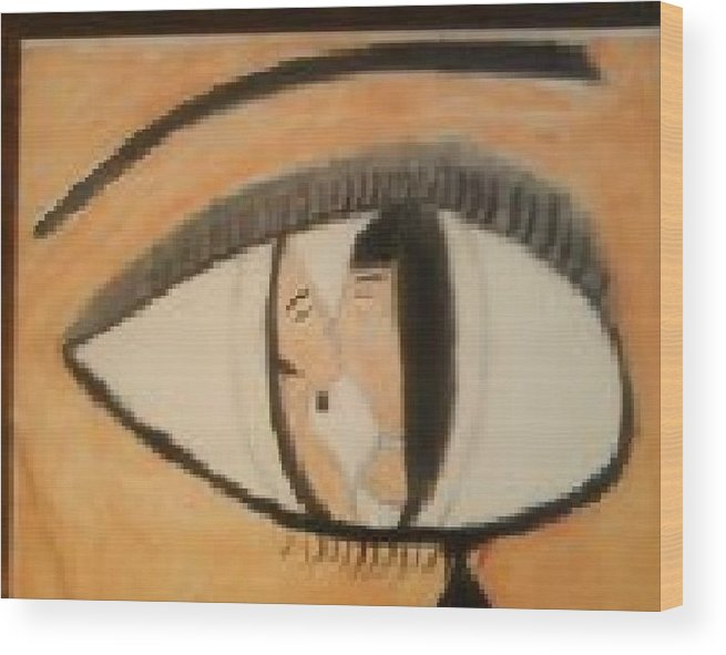 Abstract  Wood Print featuring the painting Eye Use To Love Him by Deborah R