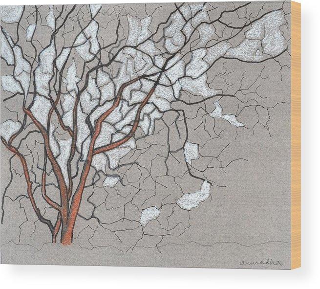 Original Art Wood Print featuring the painting Fall by Anuradha Rajkumari