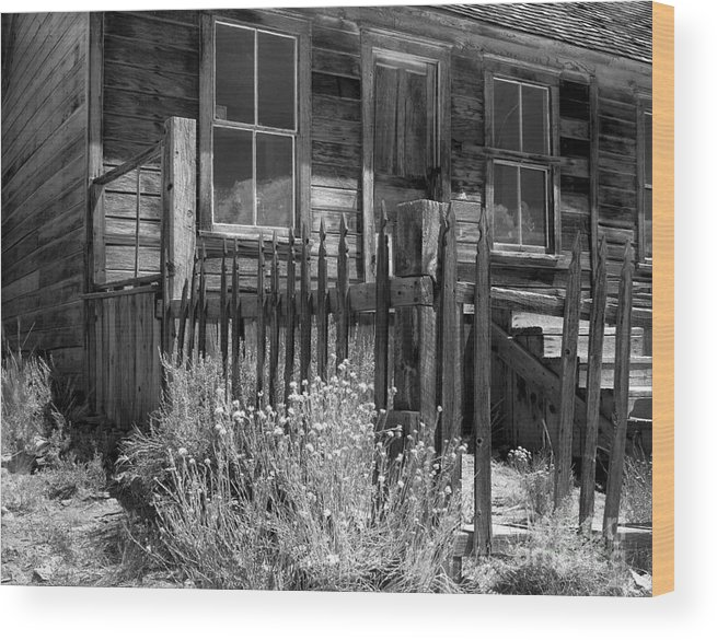 Film Wood Print featuring the photograph Front Porch Bodie Ghost Town California by Pete Paul