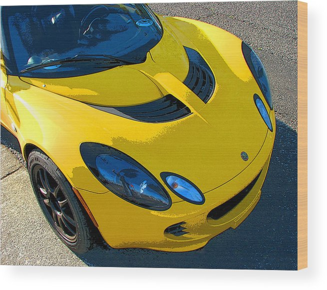 Lotus Elise Wood Print featuring the photograph Lotus Elise Front Study by Samuel Sheats